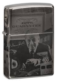 Заказать <b>Зажигалка ZIPPO George Blaisdell</b> с покрытием Black Ice ...