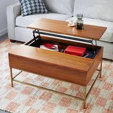 storage coffee table walnutantique brass keepcom buy west elm industrial storage coffee table