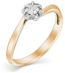 Мастер Бриллиант <b>Кольцо с 7 бриллиантами</b> из красного золота ...