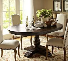 kitchen pedestal dining table set: round oval table for eat in nook cortona extending pedestal dining table pottery