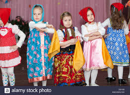 preschooler girls dancing on the stage in russian traditional preschooler girls dancing on the stage in russian traditional clothes kindergarten in st petersburg russia