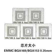 NOVFIX Hot Sale 5PCS/Lot EMMC BGA169 BGA153 Stencil ...