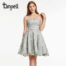 $80.6 - Cool <b>Tanpell</b> short <b>cocktail</b> dress gray <b>bowknot</b> sleeveless ...