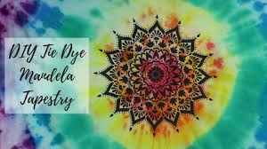 How to Make a Mandala <b>Tie Dye</b> Tapestry Using A Stencil Tutorial ...
