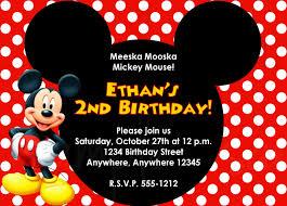 mickey mouse photo invitations com