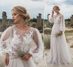 Discount <b>Romantic Puffy Lace</b> Sheer Bohemian Garden Wedding ...
