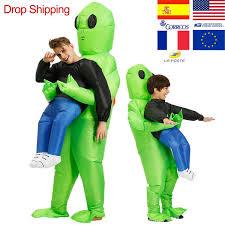 ET <b>Alien Inflatable Mascot Costume Scary</b> Green <b>Alien Costume</b> For ...