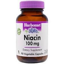 Витамин В3 (<b>ниацин</b>), Niacin, Bluebonnet Nutrition, <b>100 мг</b>, 90 капсул