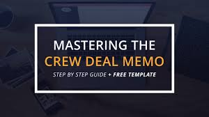 mastering the crew deal memo template mastering the crew deal memo template featured studiobinder