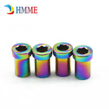 Titanium Lock Nut M5 length <b>11mm DIY Hexagon</b> Socket Female ...