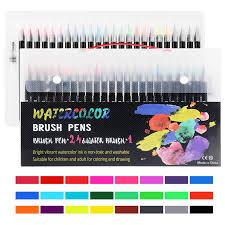 <b>24 Color Premium Painting</b> Drawing Watercolor Soft Brush Pen Art ...