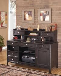 office desk with storage rectangle brown wooden office desks with hutch with storage black wood office desk 4
