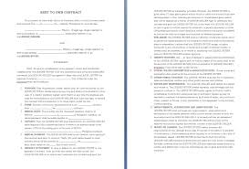 contract templates word pdf agreements rent to own contract template
