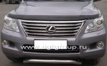<b>Дефлектор капота</b> Lexus LX 570 2007-2015 <b>темный</b>, <b>EGR</b> ...