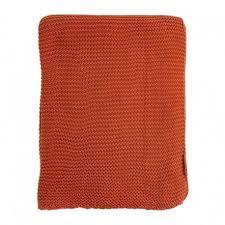<b>Плед жемчужной вязки терракотового</b> цвета, Tkano купить в ...
