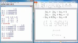 r tutorial 7 solving systems of linear equations statistical r tutorial 7 solving systems of linear equations statistical programming language r