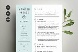 resume templates page creative market resume cover letter template