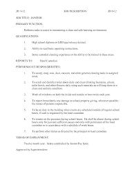 sample resume for custodian  seangarrette cosample