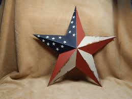 metal star wall decor: patriotic americana metal star wall decor barn  heartside collection