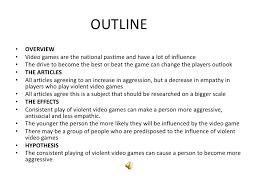 video game violence essay  wwwgxartorg the psychological effects of violent video games slide show lt br gt