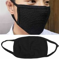Unisex Anti-Dust <b>Cotton Black</b> Masks Health Cycling <b>Mouth Face</b> ...