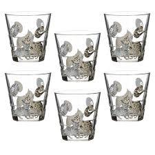 п-да/сервир 650-<b>545</b> стекло <b>набор</b> стаканов коты, 6 шт., 250 мл ...