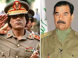 if Saddam, Gaddafi still