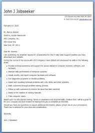 it help desk cover letter sample job seeking cover letter