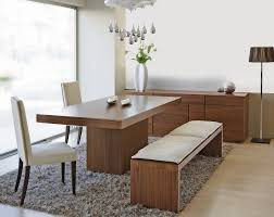 dining room bench seating: newest dining room bench made of wood and white cushions with no back full