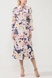 <b>Платье</b> льняное с цветочным принтом <b>Gerry Weber Casual</b> - цена ...
