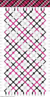 plaid stripes friendship bracelet pattern - <b>three 3 color DIY</b> ...