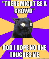 Anxiety Cat Meme on Pinterest | Anxiety Cat, Introvert Cat and ... via Relatably.com