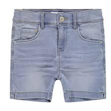 <b>Шорты</b> джинсовые, 6-14 лет голубой <b>Name It</b> | La Redoute