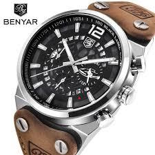 Top Brand <b>BENYAR Large dial design</b> Chronograph Sport Mens ...