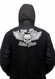 <b>Live Free Ride Free</b> Skull Wings | CometCloud.Store
