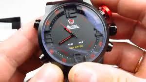 Мужские <b>часы Shark</b> SH105 Digital LED Sport <b>Watch</b> Red - YouTube