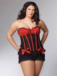 <b>Страстный черный корсет с</b> красным лифом Queen Coquette ...