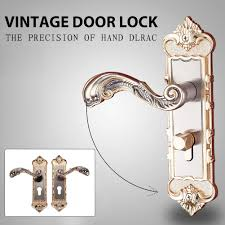<b>1 Set Vintage</b> Door Lock <b>European Style Retro</b> Bedroom Door ...