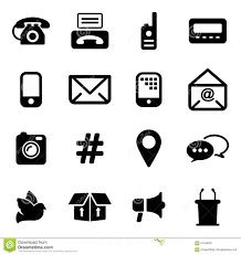 Different Ways Of Communication Icons Stock Vector - Image: 67049631