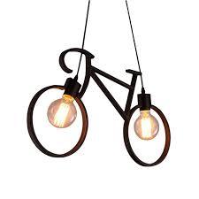 <b>Vintage Iron Bicycle Shape</b> Chandeliers LOFT White Black ...