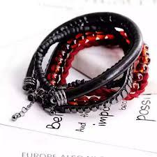 ready stock - <b>5 pcs Bohemian</b> Acrylic Beads Elastic Unisex Couple ...
