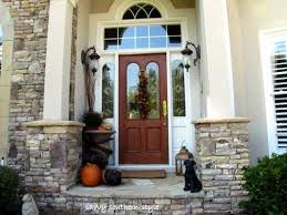 images front door porch fall fall decorations kims lovely front porch