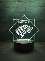 House of Stark Emblem Night Table <b>Lamp LED</b>, Stark House Logo ...
