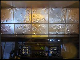 sagging tin ceiling tiles bathroom:  tin ceiling tiles used as blacksplash