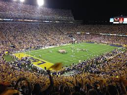 LSU Tiger Stadium football game being played