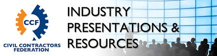 industry presentations civil contractors federation ccf victoria now offer a range of industry specific presentations from the various conferences and seminars its holds throughout the year solely for the