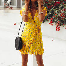 Best value Yellow <b>Lace Dress Dresses</b> Casual – Great deals on ...