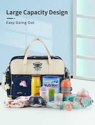 <b>Insular</b> Cartoon Mother Maternity <b>Baby Diaper Bag</b> Large Capacity ...