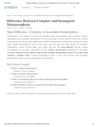 (PDF) Difference Between <b>Complete</b> and Incomplete Metamorphosis