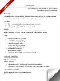 doctor resume templates   free samples  examplesphysician resume sample